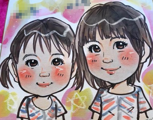 女の子のイラスト 簡単な書き方 アナログ 似顔絵 イラスト描き方講座